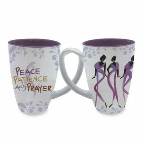 """Peace, Patience, and Prayer"" Mug"