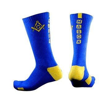 Mason Fraternity Athletic Dry Fit Crew Socks - Blue