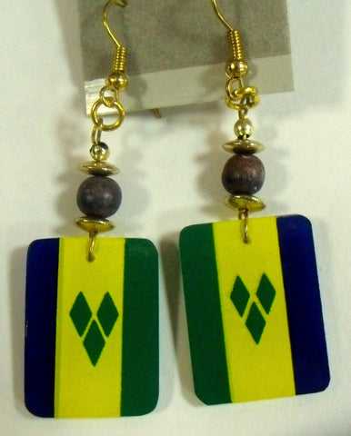 St. Vincent and The Grenadines Flag Earrings
