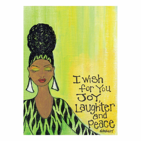 """I wish for you Joy, Laughter and Peace"" Magnet by Gbaby"