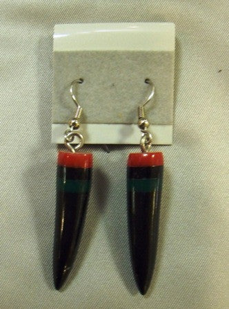 Horn African Color Earrings