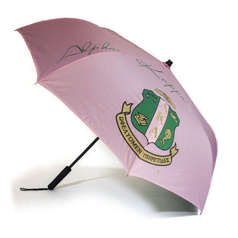 Alpha Kappa Alpha Sorority Upside Down Inverted Dual Layer Umbrella Pink