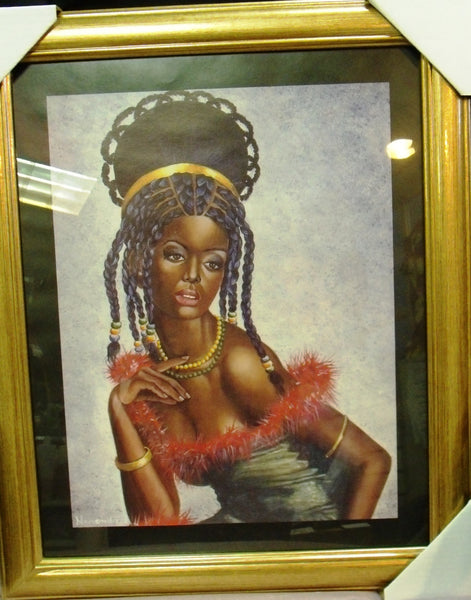 Beautiful Woman Glass Framed