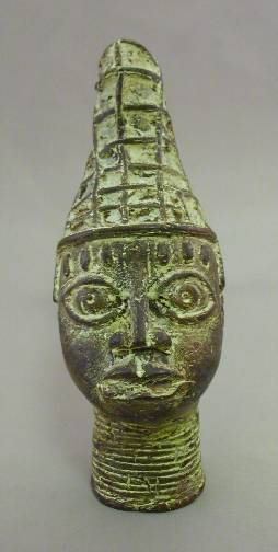 Antique Bronze King of Benin