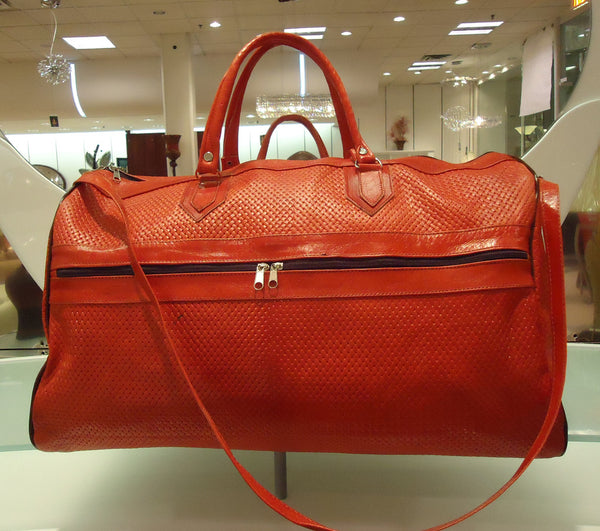 Red Algerian Leather Handbag
