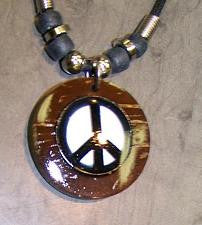 Coconut Peace Sign Necklace