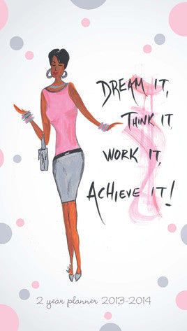 Dream It, Think It, Work It, Achieve Checkbook Planner