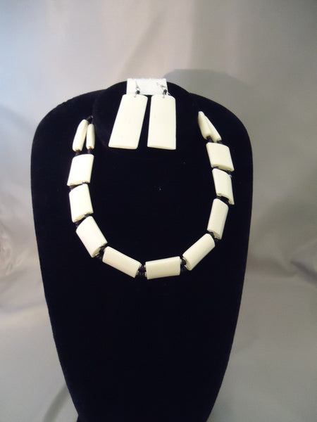 African Kenya Bone Jewelry Set