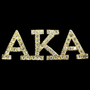 Alpha Kappa Alpha Sorority Gold Crystal Pin