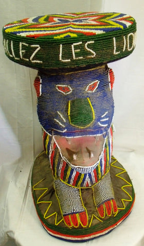 A Beaded Royal Bamileke Stool