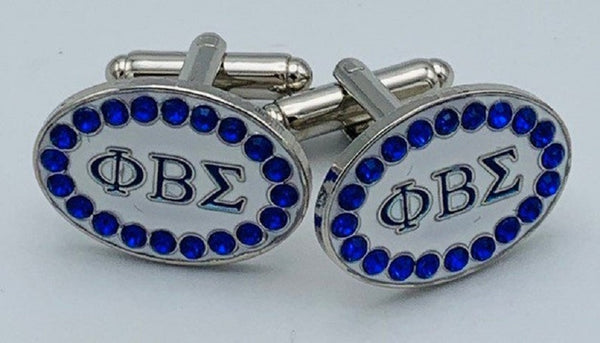 Phi Beta Sigma Crystal Cufflinks