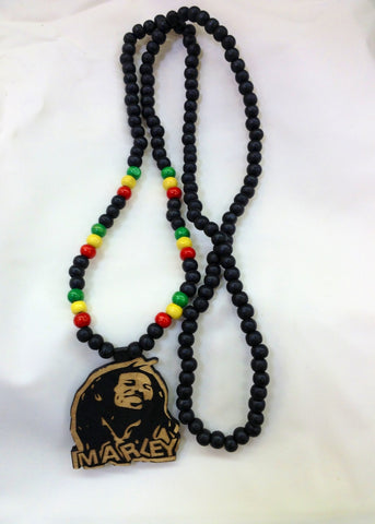 Bob Marley Wooden Necklace