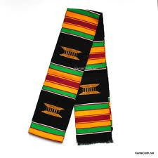 African Kente cloth strip