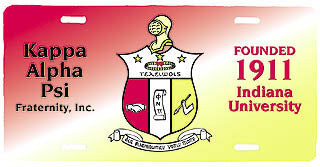 Kappa Alpha Psi License Plate