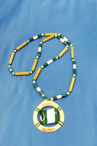 Nigerian Flag Necklace