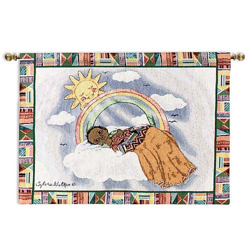 Rainbow baby wall hanging