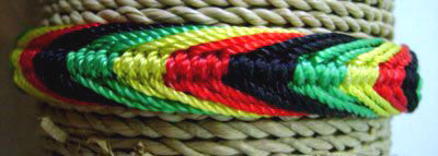 Rasta Braided Nylon Bracelet