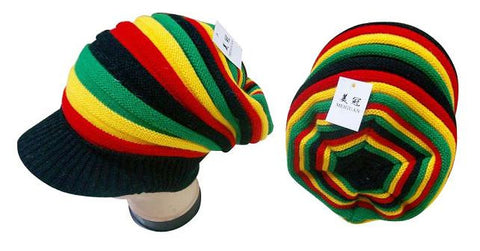 Rasta Woven Hat-Perfect for Dreads