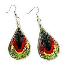 Rasta Dream Catcher Earrings(S Size)