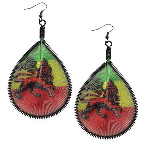 Rasta Lion Dream Catcher Earrings