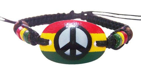 Peace sign pendant bracelet.