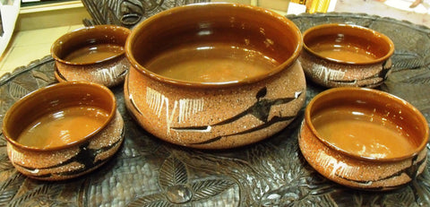 Salad Set Clay Pottery