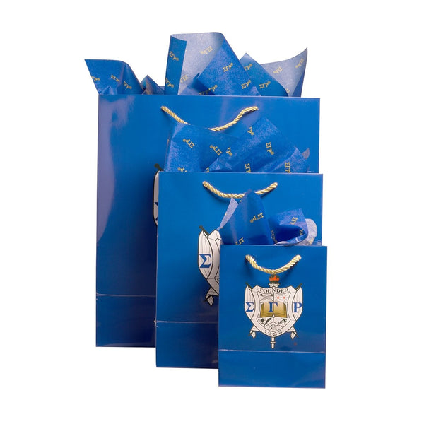 Sigma Gamma Rho Sorority Paper Gift Bag Set with Decorative Tissue