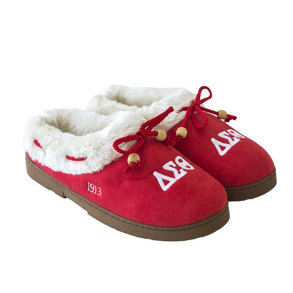 Delta Sigma Theta Sorority Cozy Slipper Large 7-8