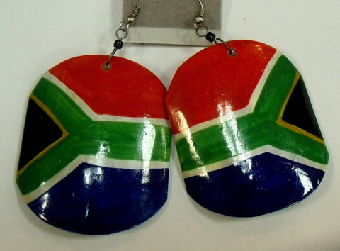 South African Flag earring