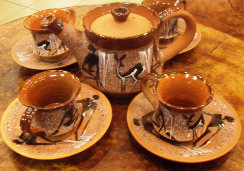 Tea Set Clay Pottery