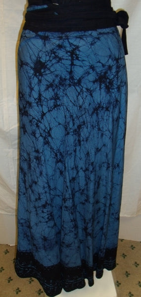 Blue And Black wrap skirt