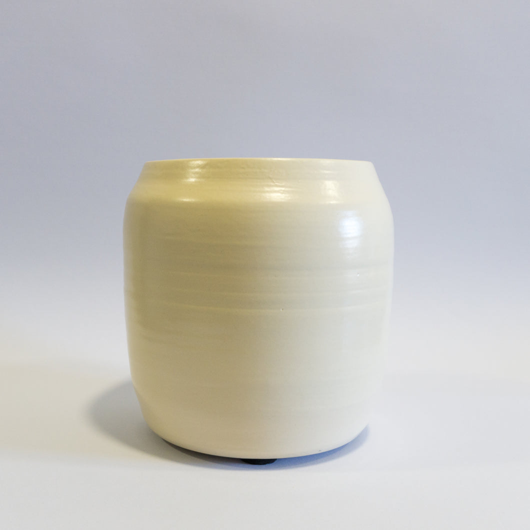 Large Straight Beige Vase