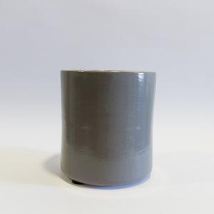 Large Straight Grey Vase