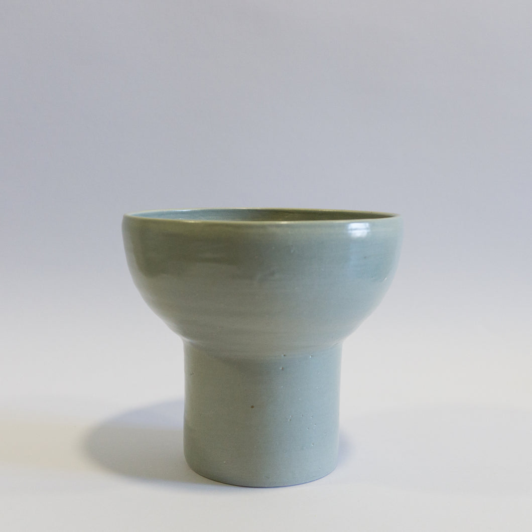 Small Blue - Grey Assymetric Shaped Vase