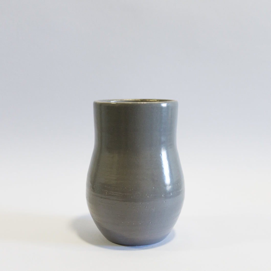 Small Grey Pear Shaped Vase