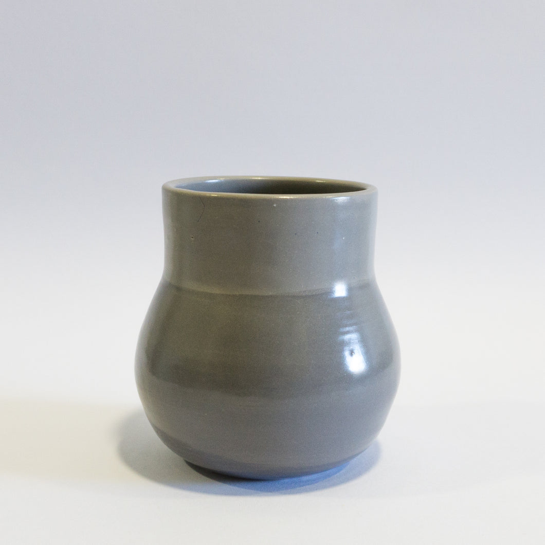 Small Grey Ball Shaped Vase