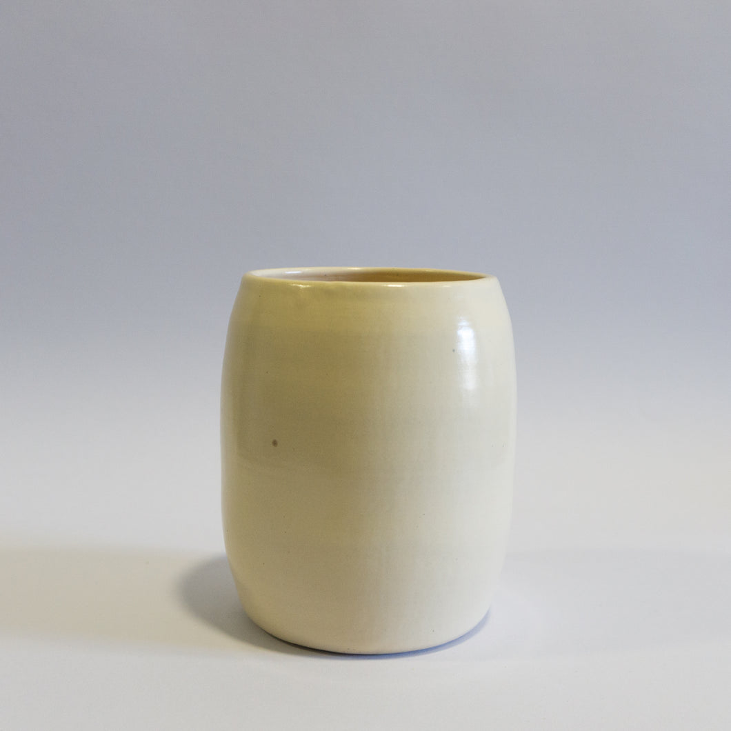 Small Beige Oval Vase