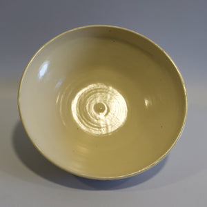 Beige carved Salad Bowl