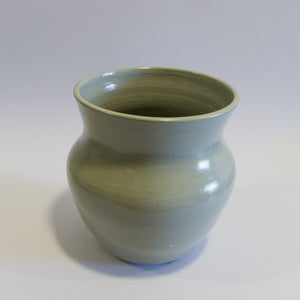 Large Open Blue - Grey Vase