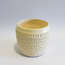 Load image into Gallery viewer, Large Carved Beige Vase