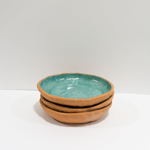 Red Clay - Clear Blue Bowls