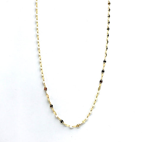 "Sparkly Italian 14 Karat Yellow Gold Chain 16""- also available in 18"""