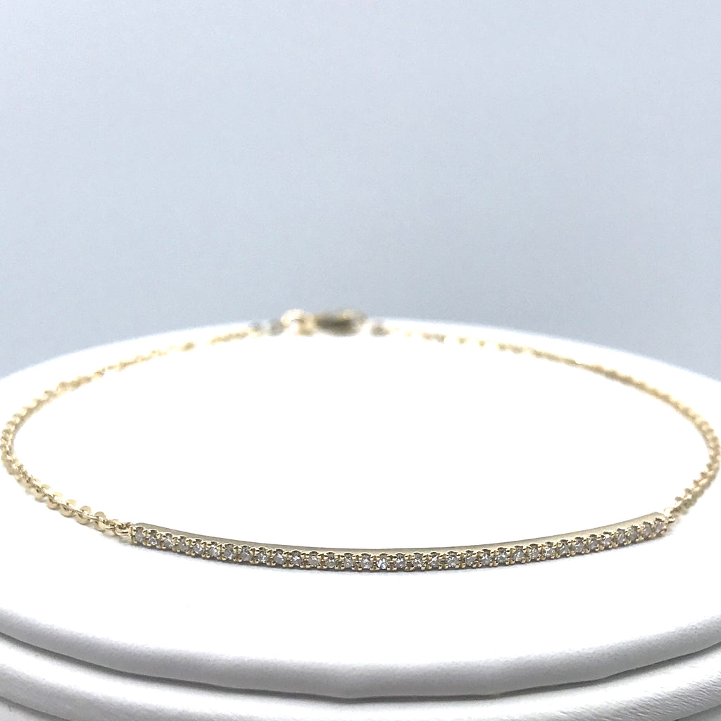 Diamond Pave Bar Bracelet
