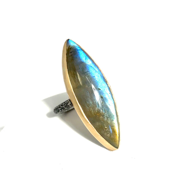 Large marquise moonstone ring