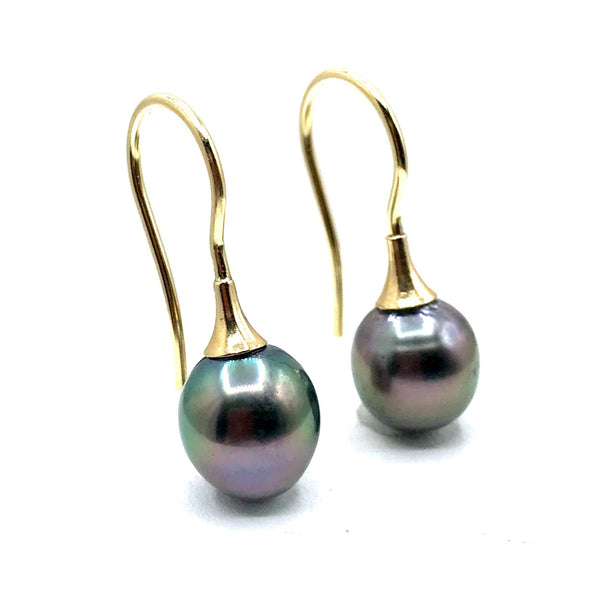 Tahitian Black Pearl Earrings
