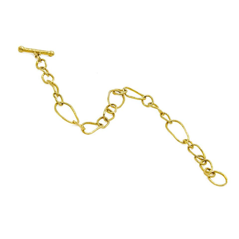 14 Karat Yellow Gold Chain Link Bracelet
