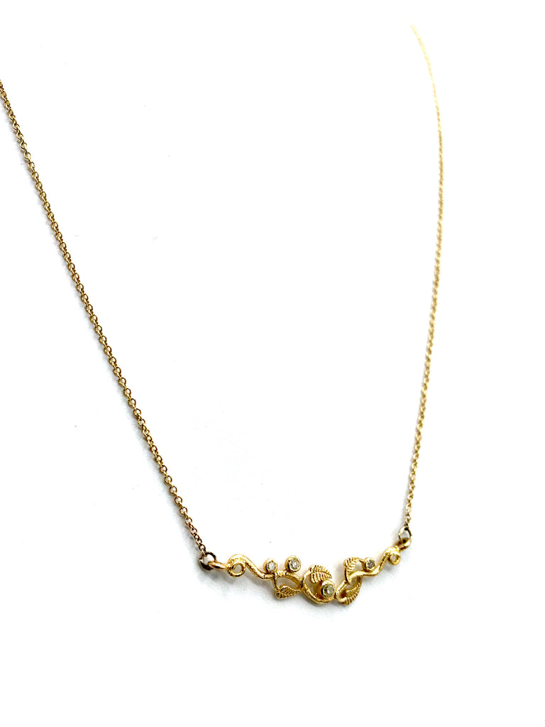 Ivy Diamond and Gold Necklace