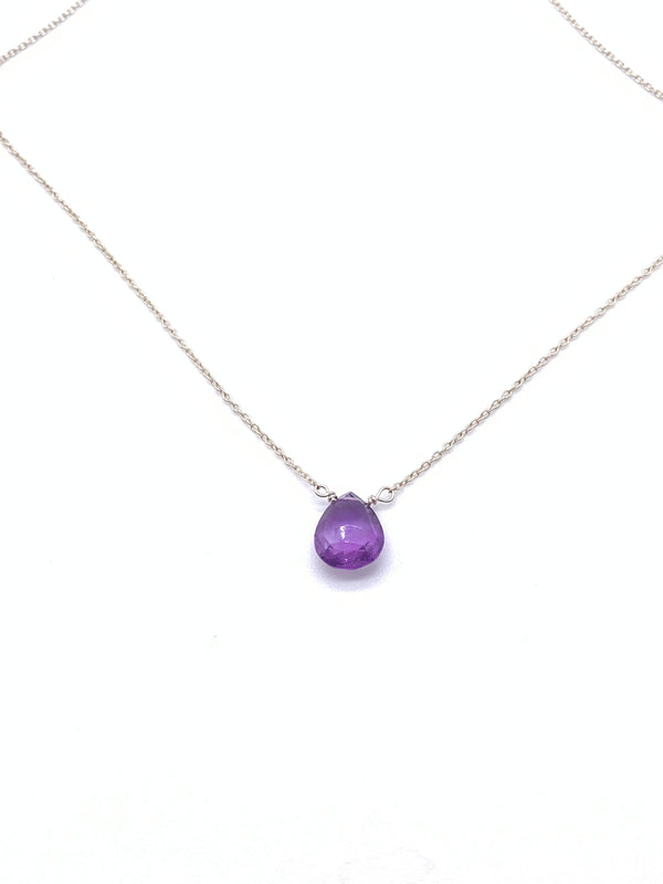 Amethyst Pendant on Sterling Silver Chain