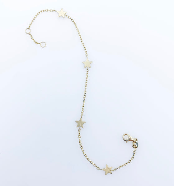 Yellow Gold Bracelet with Stars