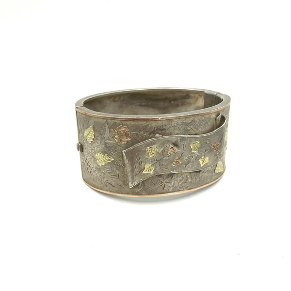 Antique Silver and Gold Bangle